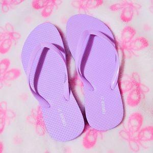 Lavender Forever21 Flip Flops